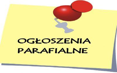 Ogłoszenia Duszpasterskie – II Niedziela Zwykła (17.01.2021 r.)